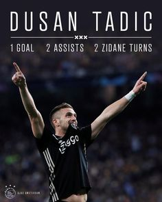 "AFC Ajax on Instagram: ""The name is Tadic... Dusan Tadic! 👑 Did he play the 'perfect' game yesterday? 🤩 #UCL #reaaja"" Afc Ajax, Fifa Football, Perfect Game, Amsterdam, March, Names, Goals, Fan, Club"