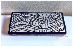 Untitled all mirror mosaic by Anne Marie Price www.ampriceart.com #mosaic #art #mirror #waves #ocean #huntingtonbeach #CA #mosaicart #AMP