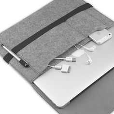 EasyAcc Macbook Air 13.3 inch Felt Sleeve Carrying bag -Grey_Laptop Covers & Bags   Protection   EasyAcc   Partner for your electronic devices