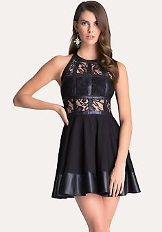 Fit & Flare T-Strap Dress