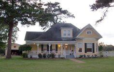 The cute yellow farmhouse