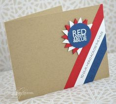 Red White & Blue Card by Nichole Heady for Papertrey Ink (May 2013)