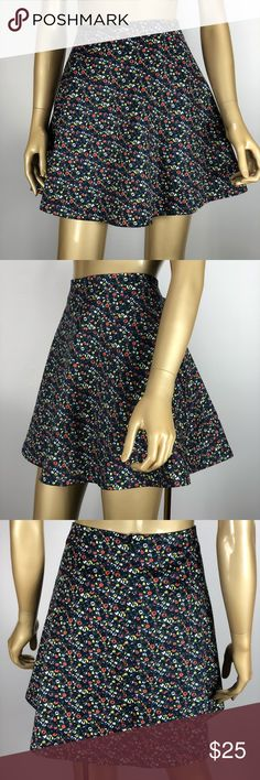 Kate Spade Saturday floral skirt size 12 Kate Spade Saturday floral mini circle skirt in women's size 12.  Measurements : (All measurements are taken with the item laying flat)  17' Waist  17' Length    Excellent Used Condition - No holes, rips, stains, or other noticeable wear. kate spade Skirts Mini