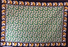 Another Khanga with no words! Made by Nida Textiles to be sold in the Mwanza Region of Tanzania. This makes it a little bigger and softer than many other kangas available for sale in the rest of the country.