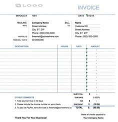 Printable Invoice Templates Free Pinsandy Kuncoro On Invoice  Pinterest  Template And Pdf