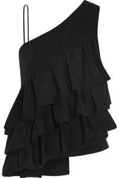 Black stretch-knit Slips on 42% viscose, 37% cotton, 18% nylon, 3% spandex Dry clean