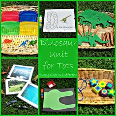 Dinosaur Unit for Tots w/ Free Printables