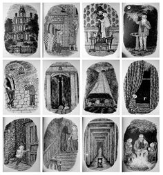 Edward Gorey illustrations // The House With a Clock in Its Walls 1973
