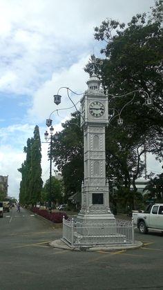 Seychellerna. Mahé. Klocktornet av Victoria.