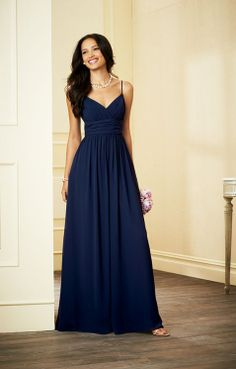 long blue dress with sandals