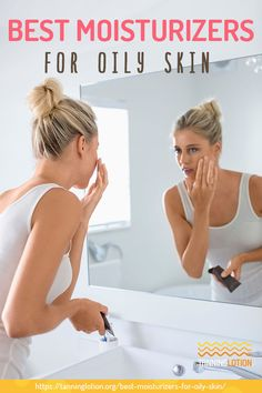 Best Moisturizers For Oily Skin | When it comes to choosing the best moisturizers for oily skin, you can certainly find many good options. Narrow down your search with this article! Oily Skin Remedy, Moisturizer For Oily Skin, Younger Skin, Healthy Skin Care, Tan Skin, Combination Skin, Best Face Products, Moisturizers, Type