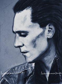 "Tom Hiddleston ""Loki"" Fan art From http://lindamarieanson.deviantart.com/art/whenever-your-world-starts-crashing-down-337504431"
