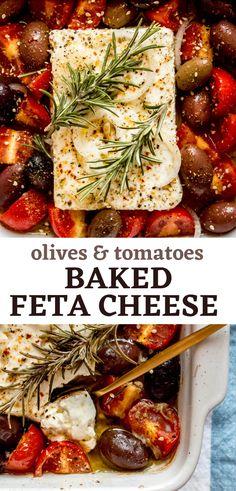 Tomato Appetizers, Greek Appetizers, Easy Appetizer Recipes, Healthy Appetizers, Healthy Greek Recipes, Authentic Greek Recipes, Greek Salad Recipe Authentic, Vegetarian Recipes, Cooking Recipes
