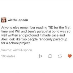 I mean, I loved Jace and Alec's relationship, but nothing compares to Heronstairs. Shadowhunters Series, Shadowhunters The Mortal Instruments, Will Herondale, Cassie Clare, Cassandra Clare Books, Clace, The Dark Artifices, City Of Bones, Book Memes