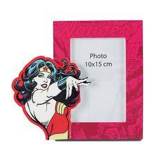Porta Retrato Madeira Mulher Maravilha