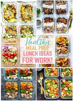 These20 Easy, Healthy Meal Prep Lunch Ideas for Work are the perfect way to stay on track with your weekly meal planning - these meal prep bowls are creative, delicious ways to eat healthy and stay organized during busy work weeks, and they're perfect for meal planning on a budget too!