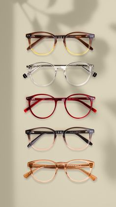 Get Most Stylish Collectio of Crystal Clear Glasses. #glasses #crystalclear #transparent Transparent Glasses Frames, Glasses Online, Different Colors, Eyewear, Colours, Sunglasses, Crystals, Stylish, Business
