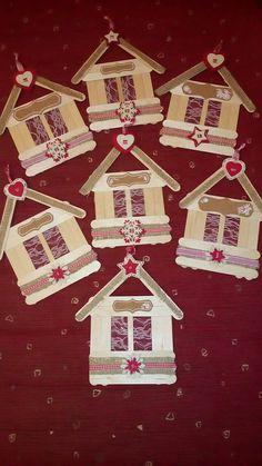 Handmade Christmas Crafts, Kids Christmas Ornaments, Christmas Crafts For Kids, Xmas Crafts, Homemade Christmas, Christmas Projects, Christmas Diy, Christmas Decorations, Paint Stick Crafts
