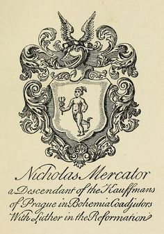 Bookplate of Nicholas Mercator c1660 | Flickr - Photo Sharing!