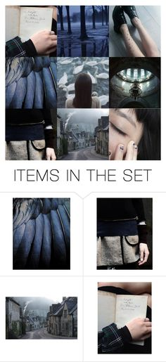 """""""Idk, OC maybe?"""" by ku-chan ❤ liked on Polyvore featuring art, ravenclaw, moodboard and aesthetic"""