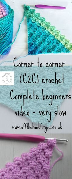 Corner to Corner crochet Video for complete beginners. Slow easy to understand video – off the hook for you # learn to crochet for beginners Corner to Corner crochet Video Crochet Simple, Easy Crochet Stitches, Crochet Stitches For Beginners, Beginner Crochet Projects, Easy Crochet Blanket, Crochet Videos, Crochet Afghans, Crochet Blanket Patterns, Easy Knitting