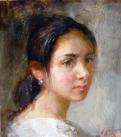 Girl profile (??) Nicolay Blokhin Russian (1968 - )