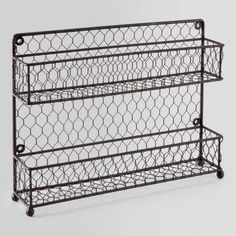 Wire Two-Tier Spice Rack | World Market