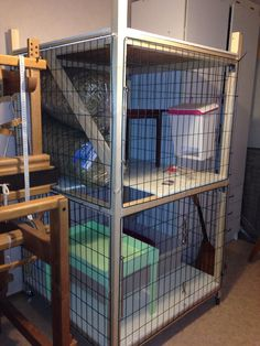 Bunny cage, diy. Not yet inhabited...