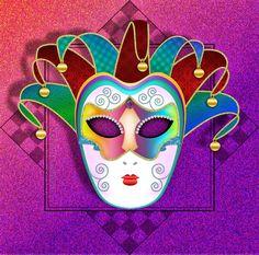 Colorful Carnival Mask by Christi-Dove on DeviantArt Carnival Masks, Photo Wallpaper, Wood Art, Digital Art, Deviantart, My Love, Fun, Kids, Respect