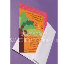 Baby shower invitations Chicka Chicka Boom Boom 25 by STDONexus, $28.00