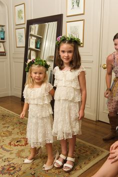 Bonnie and the Mermaids Wedding: My flower girls in my shoes and my sister's