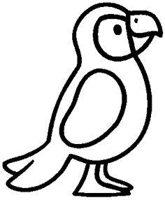 perroquet 1 - Coloriage Colorier