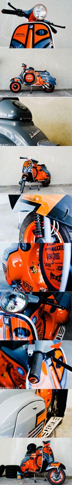 Vespa Super Sprint 136 Malossi via: Mainroller.de http://mainroller.de/portfolio/vespa-super-sprint-136ccm-malossi