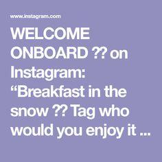 "WELCOME ONBOARD ✈️ on Instagram: ""Breakfast in the snow ❄️ Tag who would you enjoy it with 😋 Rize, Turkey. . . . Video by @katya_karadeniz #turkey #snowday #christmas🎄…"" Turkey Video, Enjoy It, Welcome, Snow, Breakfast, Places, Christmas, Instagram, Morning Coffee"