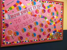 My new theme, Candyland! Candy Theme Classroom, Candy Land Theme, Classroom Decor Themes, Classroom Themes, Classroom Organization, Classroom Door, Classroom Activities, Candy Bulletin Boards, Preschool Bulletin Boards