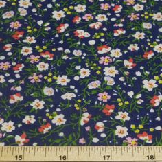 Ditsy Floral Summer Burst Polycotton Fabric - Oh Sew Crafty Ltd