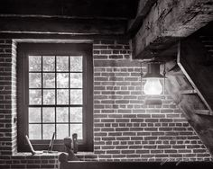 """""""Lighted Stairwell""""  Limited Edition Original fine art photograph from a 4x5 B&W negative."""