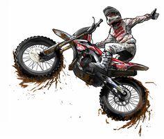 Motocross Cartoon Art | 0