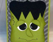 Frankenstein halloween card made with high quality Stampin' Up products.