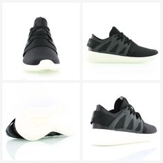 Adidas Originals bring you an updated silhouette with the popular Tubular tooling: Adidas Tubular Viral W black/white