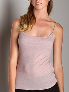 CLICK IMAGE TWICE FOR PRICING AND INFO :) #bra #bras #shelf #shelfbra #shelfbras #womens #intimates  SEE A LARGER SELECTION FOR the shelf bra at http://zwomensbra.com/category/bra-categories/shelf-bra/ - Three Dots Sheer Rib Camisole with Shelf Bra Pink Heather « Z Womens Bra