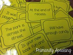 A Few Freebies for You! complete and incomplete sentences