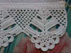 This Pin was discovered by Ser Crochet Blanket Edging, Crochet Lace Edging, Crochet Motifs, Crochet Borders, Crochet Diagram, Crochet Stitches Patterns, Lace Patterns, Crochet Squares, Filet Crochet