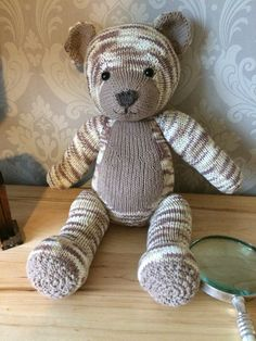 Knitables teddy bear knitting project shared on the LoveKnitting Community