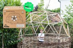 geodesic dome kit creates an outdoor structure Geodesic Dome Kit, Geodesic Dome Greenhouse, Greenhouse Plans, Woodworking Pipe Clamps, Woodworking Projects, Woodworking Store, Diy Projects, Holiday Gift Guide, Holiday Gifts