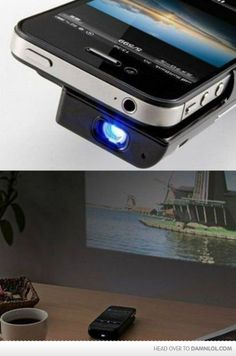 iPhone case that turns into a projector! I just went from pretty indifferent to an iPhone fan... My mind is blown.
