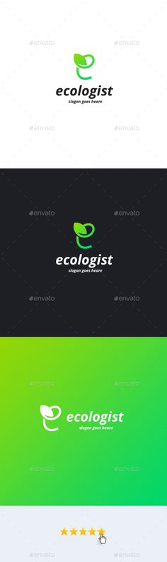 Ecologist �20Letter E Logo Template by Shumchuk What you getAi file