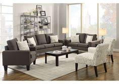 Ashley Hodan Marble Gray Sofa Chaise Loveseat Chair Living