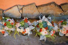 succulent & rose bouquets