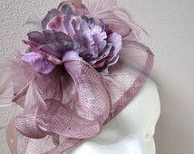 Kentucky derby Lavender lilac fascinator  Wedding fascinator hat  CREATION